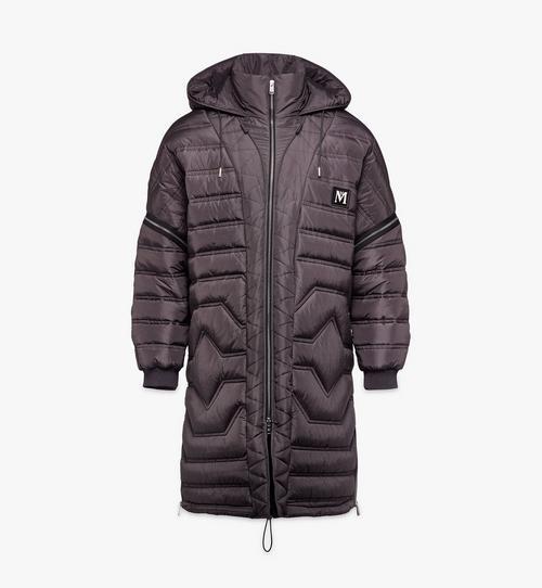 Manteau en nylon matelassé convertible pour homme