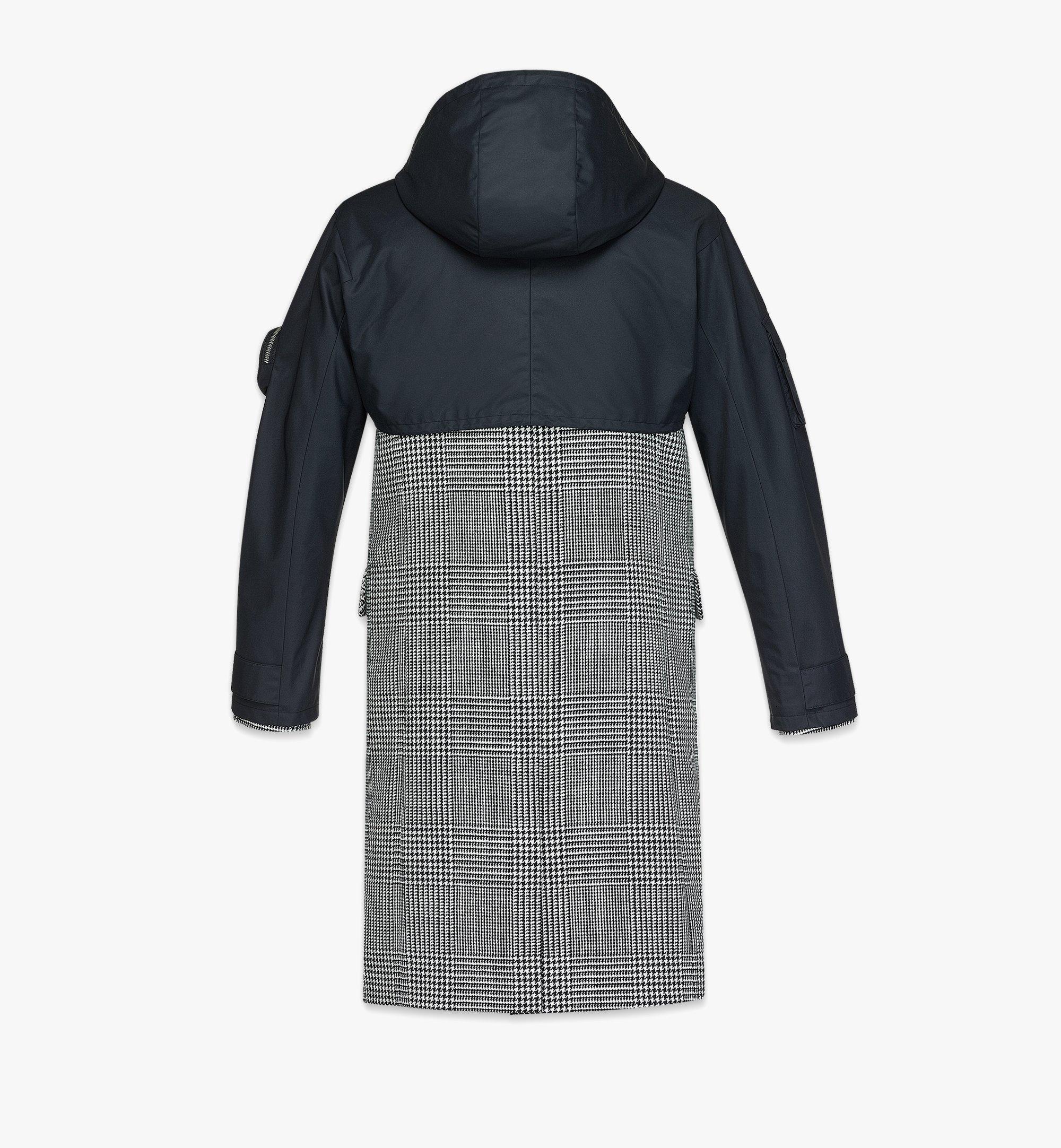 MCM Men's Check Wool Coat with Nylon Overlay Black MHCBAMM01BK046 Alternate View 3
