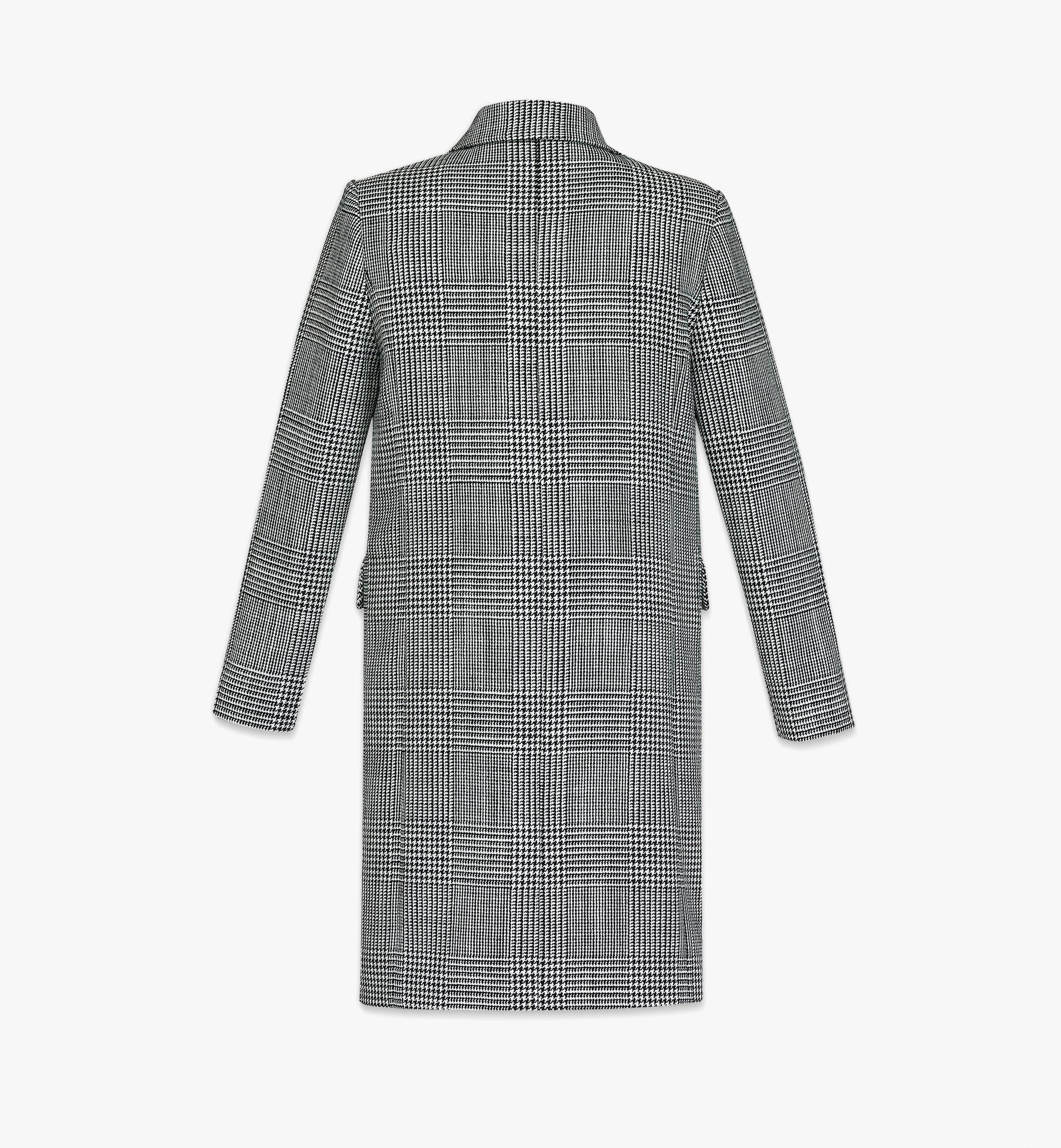 MCM Men's Check Wool Coat with Nylon Overlay Black MHCBAMM01BK046 Alternate View 4