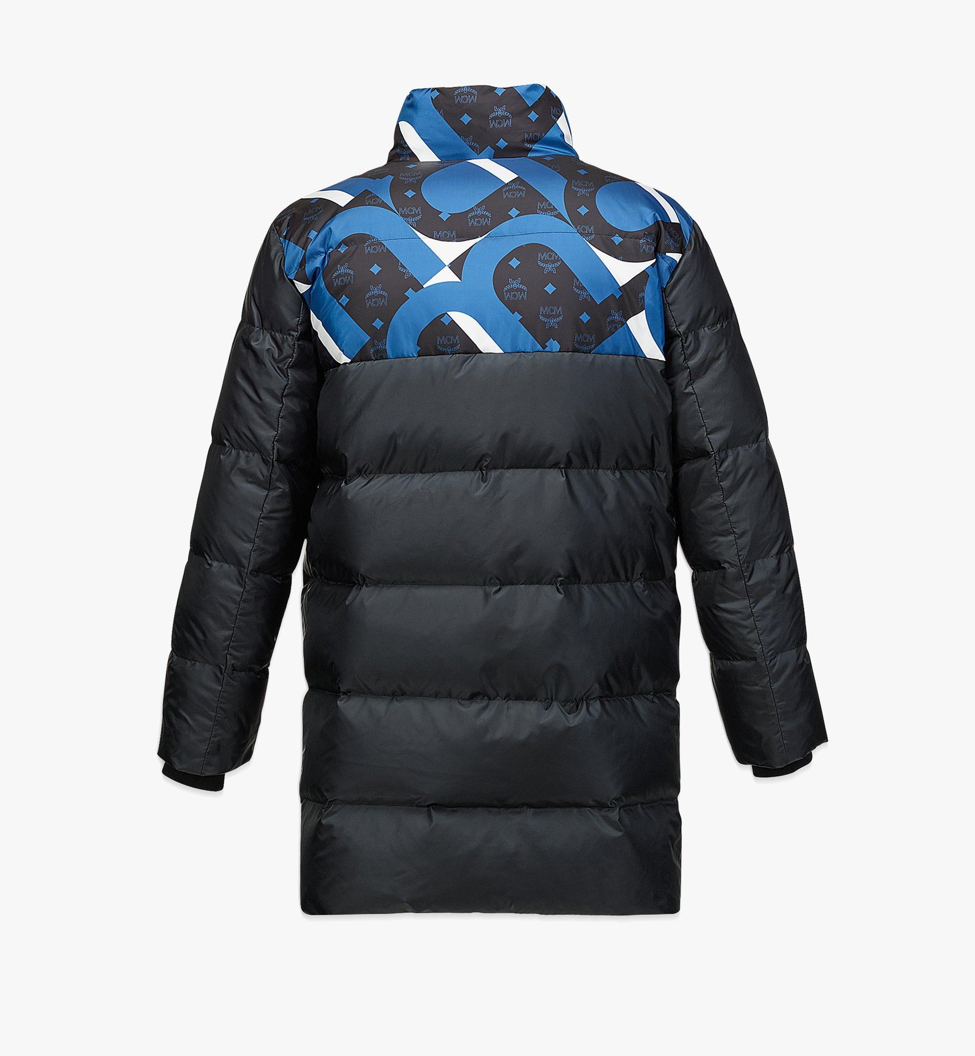 MCM Unisex Wave Visetos Down Jacket in Recycled Polyester Black MHCBASX01BK048 Alternate View 1