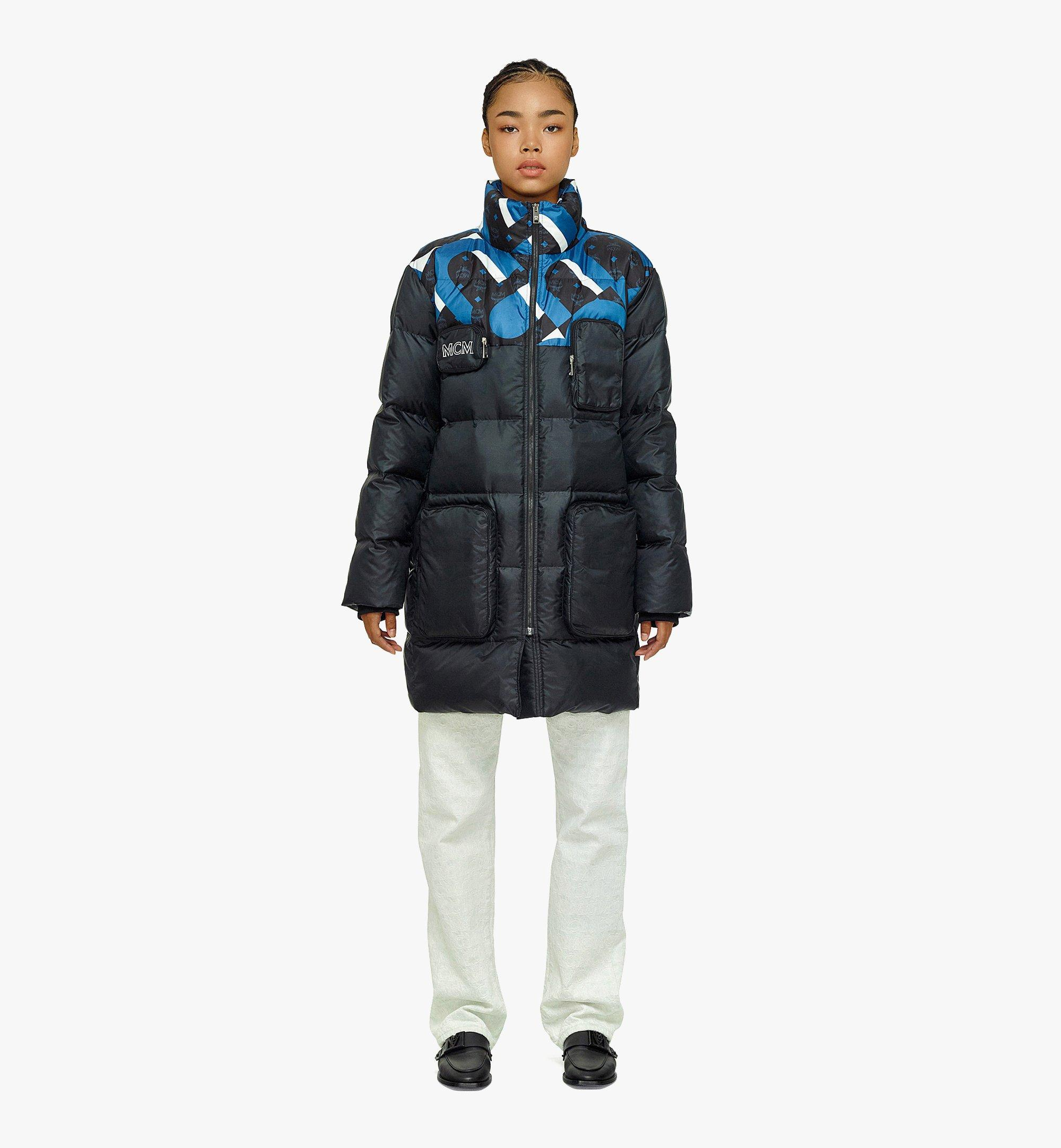 MCM Unisex Wave Visetos Down Jacket in Recycled Polyester Black MHCBASX01BK048 Alternate View 3