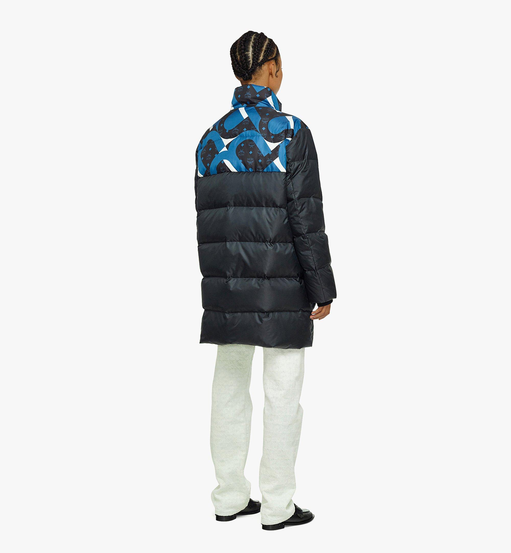 MCM Unisex Wave Visetos Down Jacket in Recycled Polyester Black MHCBASX01BK048 Alternate View 2