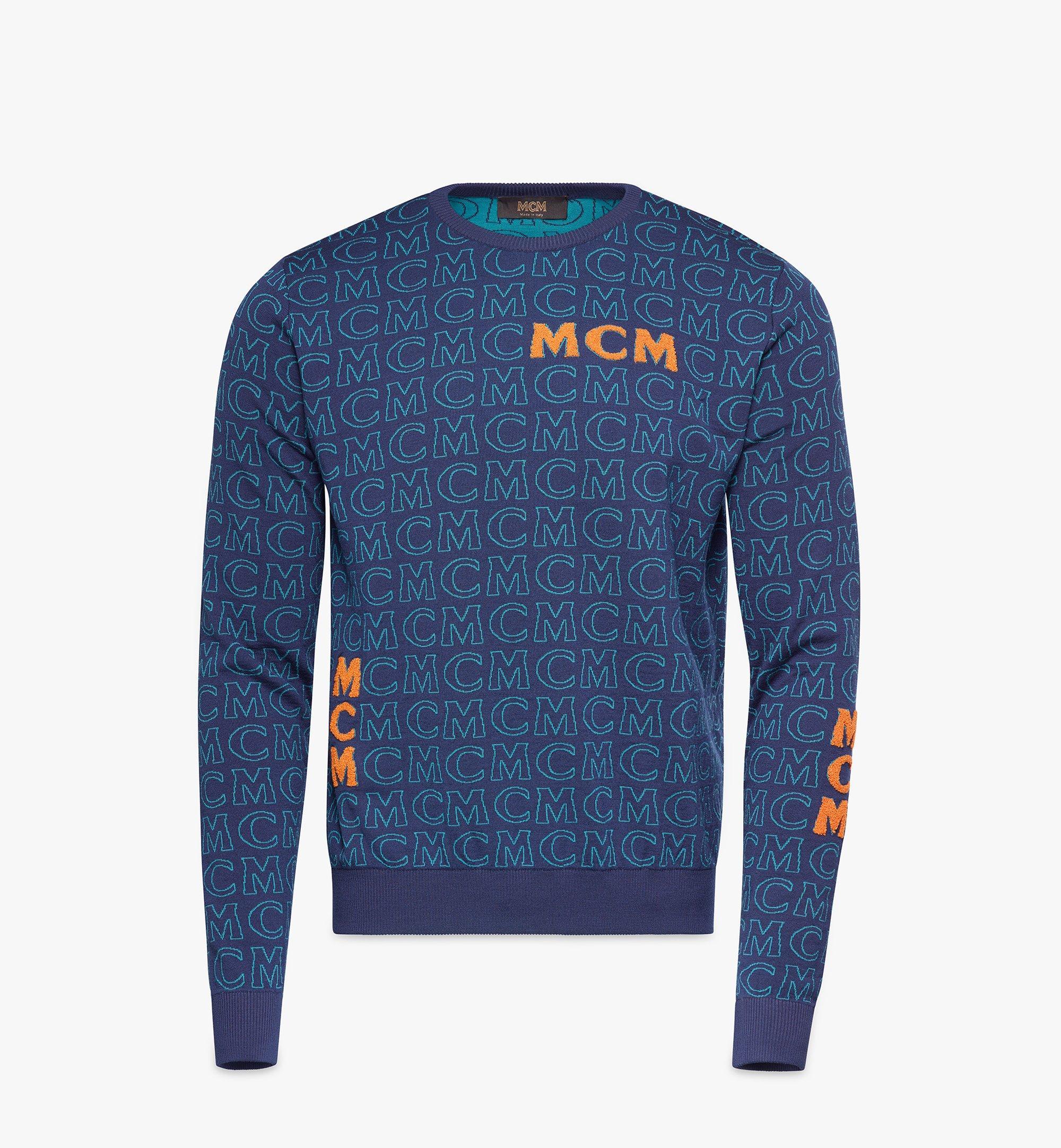 MCM メンズ モノグラム ウールセーター Black MHEAAMD01VW0XL Alternate View 1