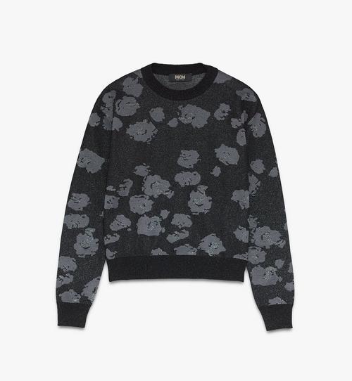 メンズ フローラルレオパード プリント セーター