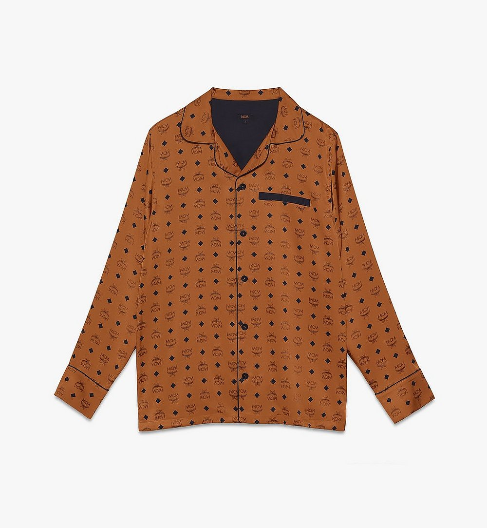 MCM 经典logo桑蚕丝睡衣衬衫 Cognac MHHASBM01CO00L 更多视角 1