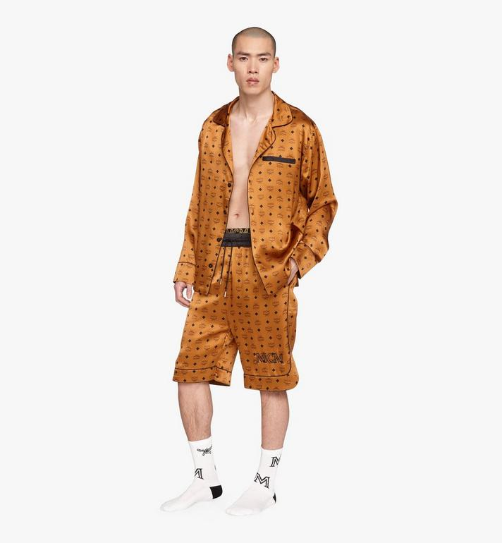 MCM Klassisches Pyjamahemd aus Seide mit Logo  MHHASBM01CO00L Alternate View 3