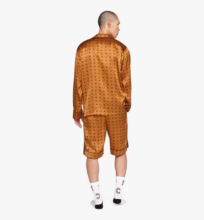 MCM Klassisches Pyjamahemd aus Seide mit Logo  MHHASBM01CO00L Alternate View 4