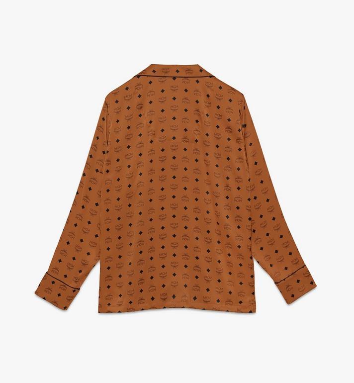 MCM Classic Logo Silk Pajama Shirt  MHHASBM01CO00M Alternate View 2