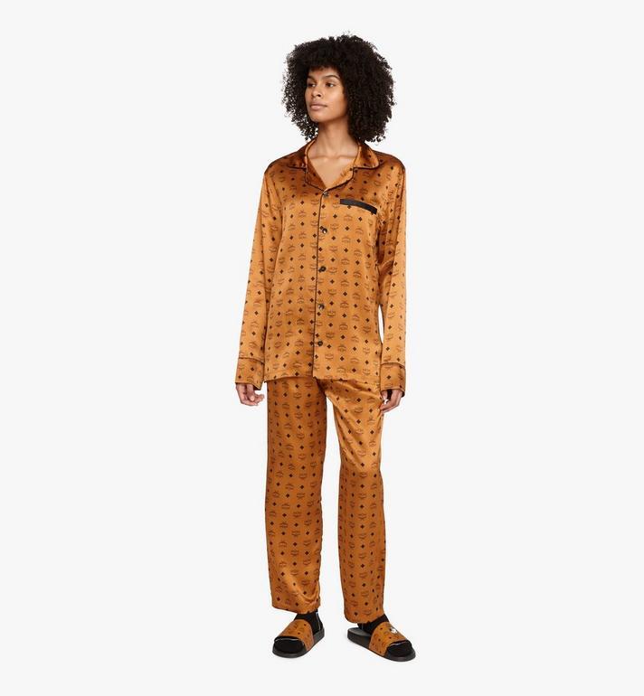 MCM Veste de pyjama classique en soie à imprimé logo  MHHASBM01CO00S Alternate View 5