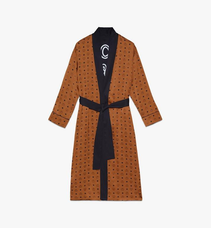 MCM Classic Logo Silk Reversible Robe Cognac MHHASBM02CO00L Alternate View 1