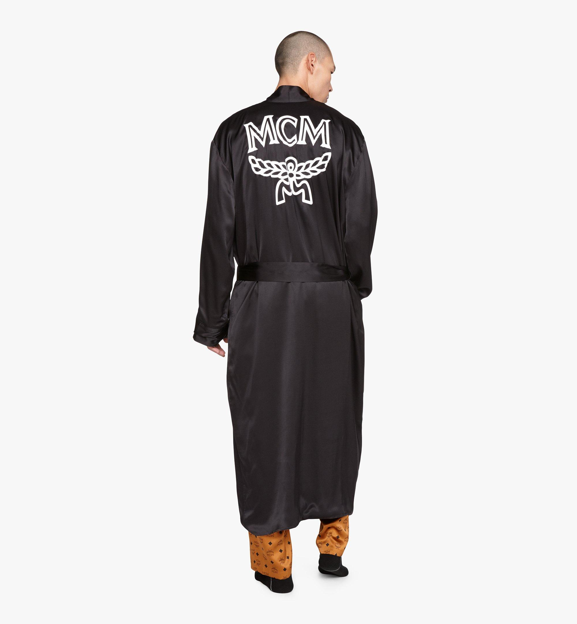 MCM Classic Logo Silk Reversible Robe Cognac MHHASBM02CO00L Alternate View 8
