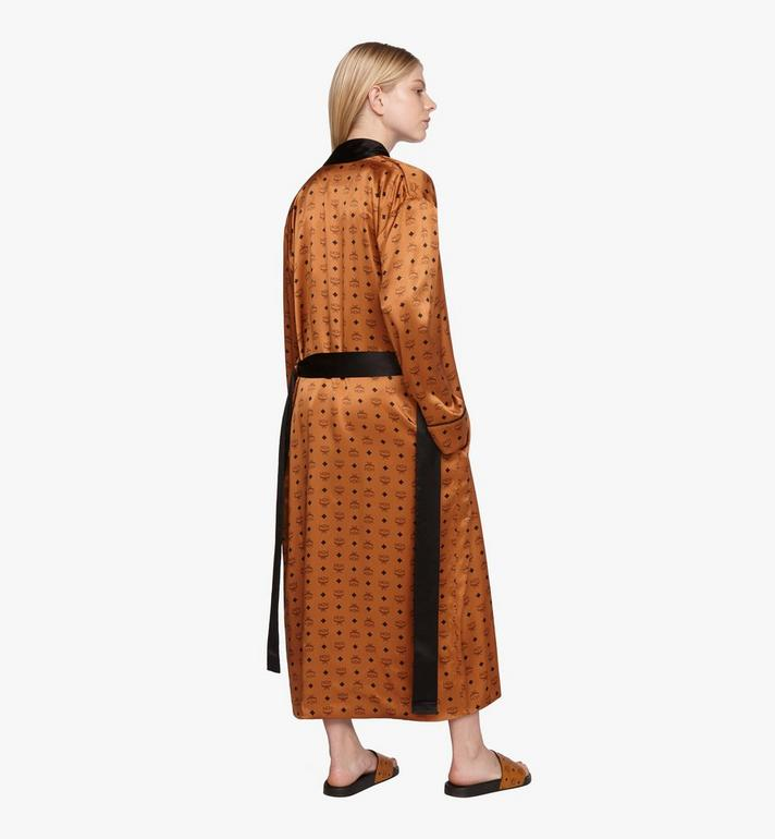 MCM Classic Logo Silk Reversible Robe Cognac MHHASBM02CO00M Alternate View 10