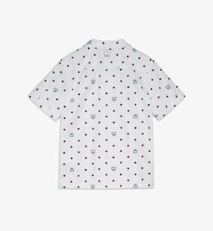 MCM Men's 1976 Disco Diamond Print Shirt White MHHASMV02WT048 Alternate View 2