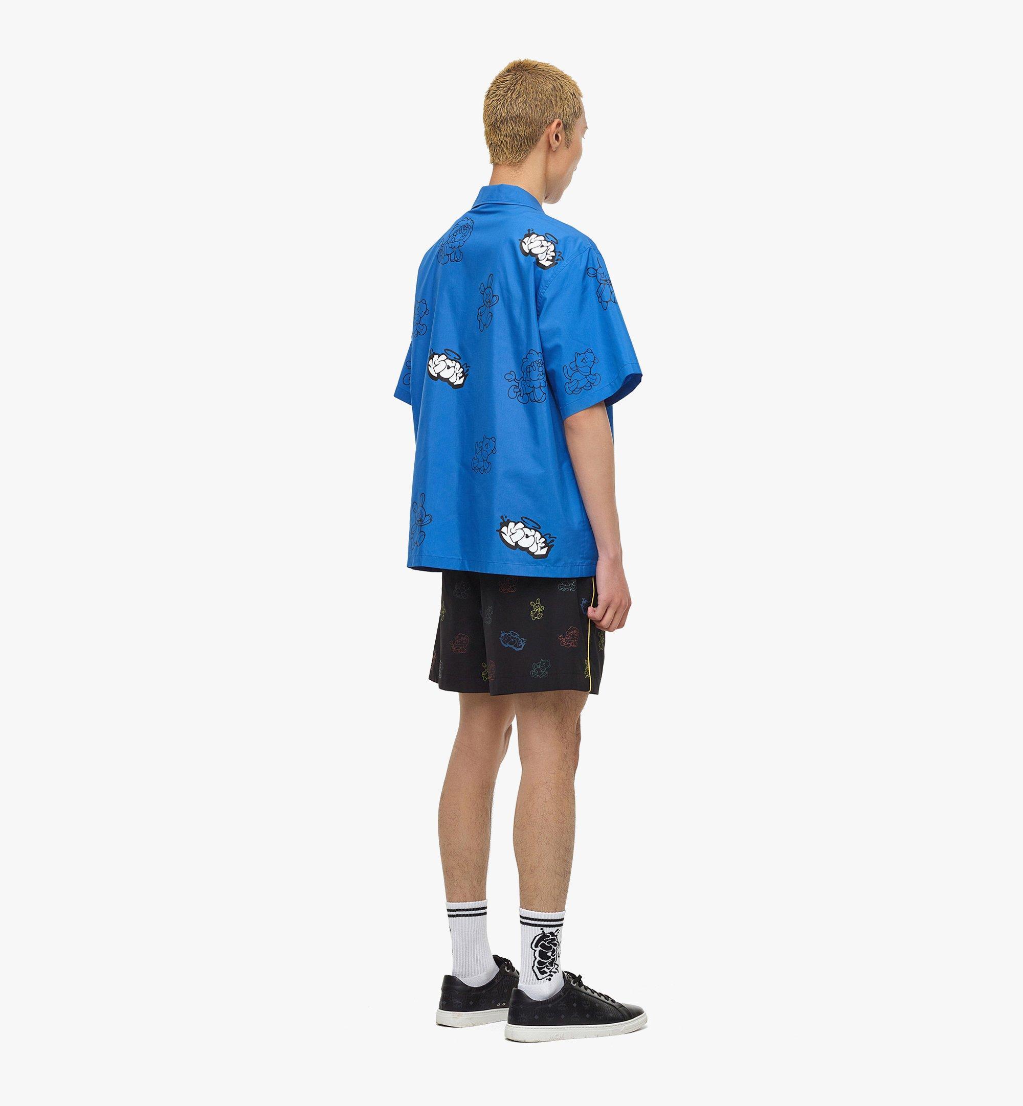 MCM MCM x SAMBYPEN Men's Short Sleeve Shirt Blue MHHBASP01LU00L Alternate View 2