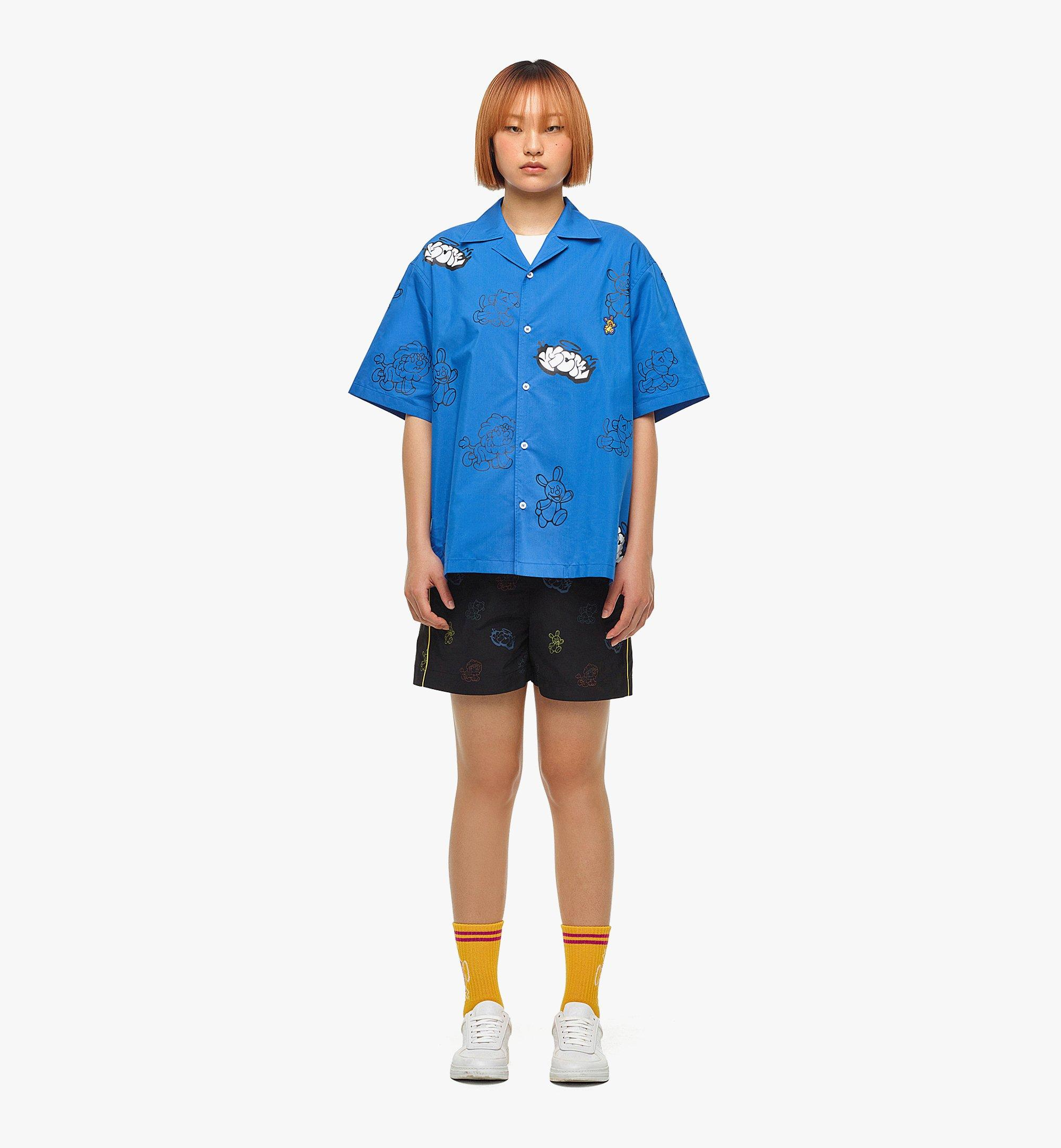 MCM MCM x SAMBYPEN Men's Short Sleeve Shirt Blue MHHBASP01LU00L Alternate View 5