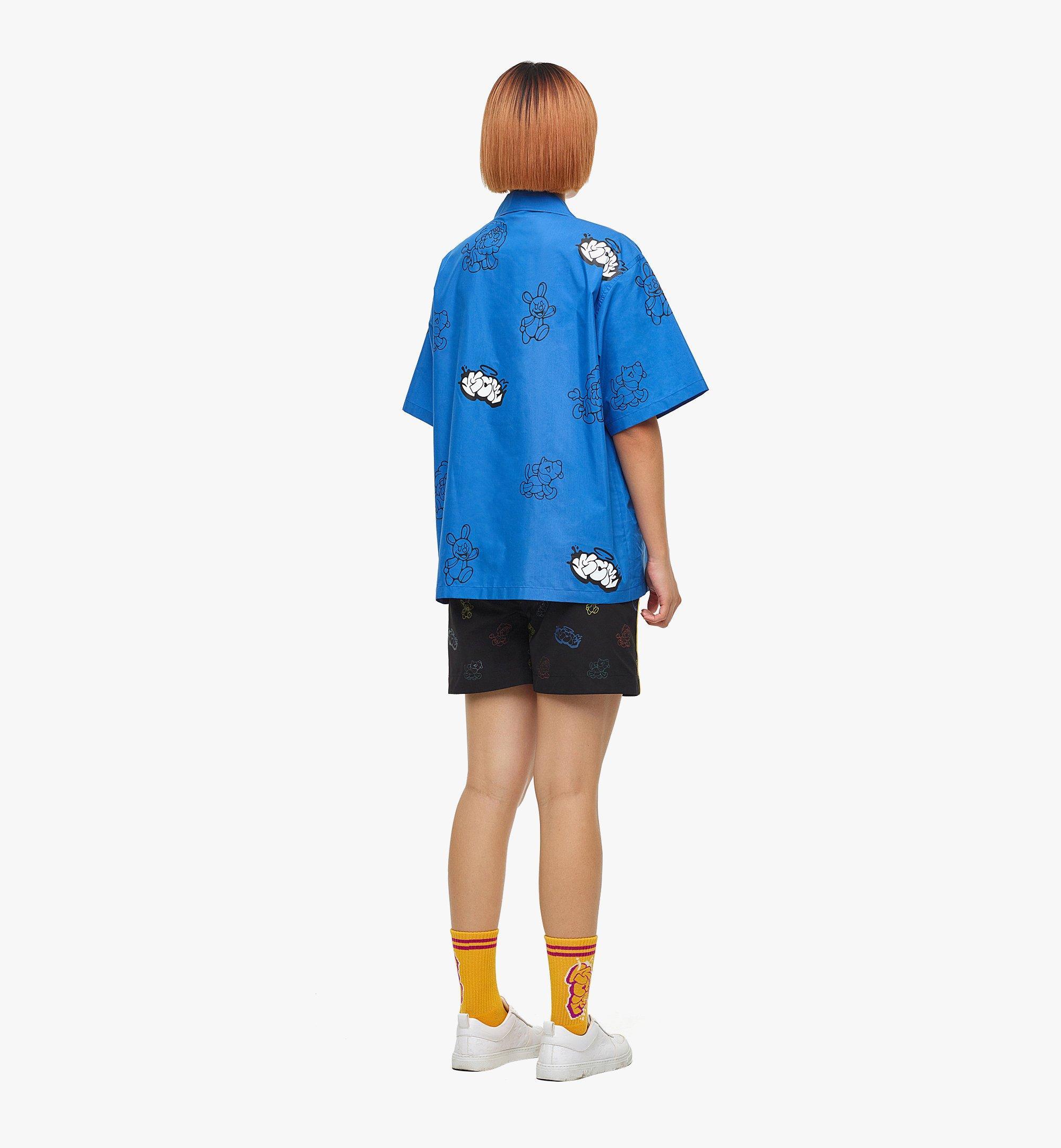 MCM MCM x SAMBYPEN Men's Short Sleeve Shirt Blue MHHBASP01LU00L Alternate View 6