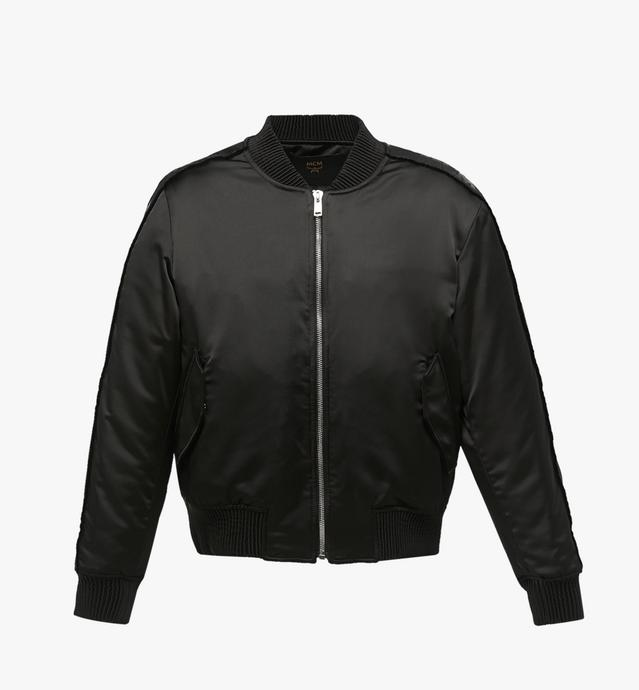 Men's Logo Tape Satin Bomber Jacket