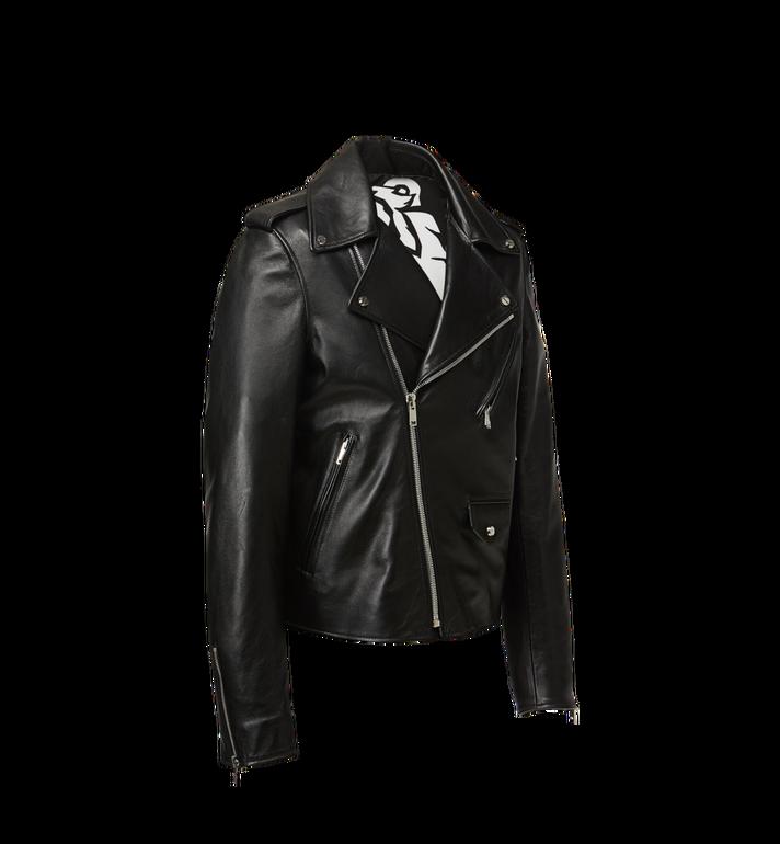 MCM Herren Bikerjacke mit geprägtem Logo aus Leder Alternate View 2
