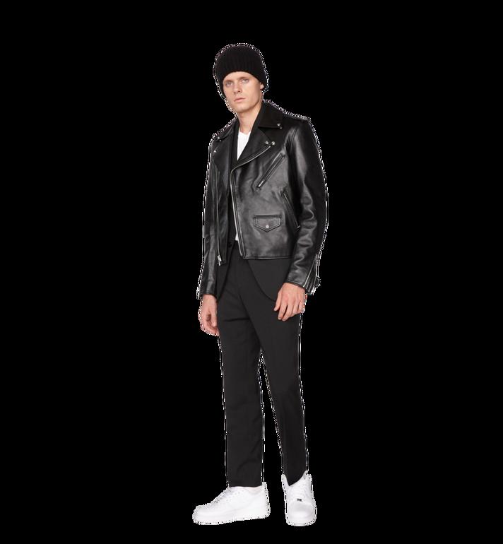 MCM Veste de motard en cuir à logo embossé pour homme Alternate View 4