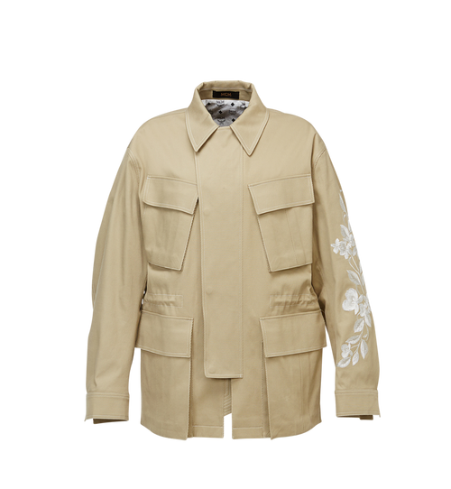 Men's Embroidered Cotton Field Jacket