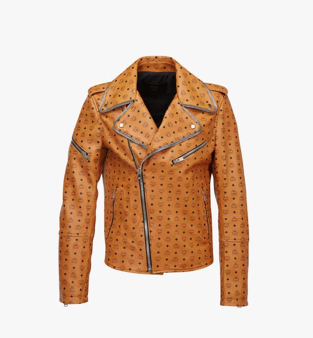남성용 비세토스 레더 라이더 재킷