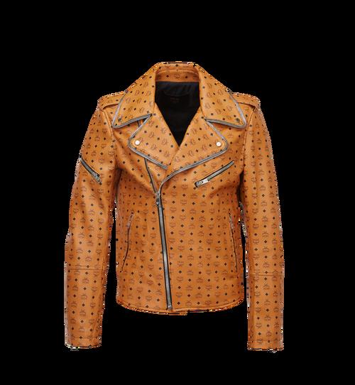 Men's Visetos Print Leather Rider Jacket