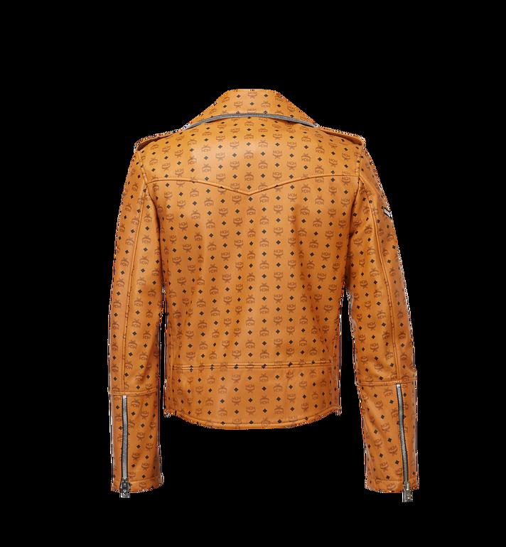 MCM Men's Visetos Print Leather Rider Jacket Cognac MHJ8SMM62CO00S Alternate View 3