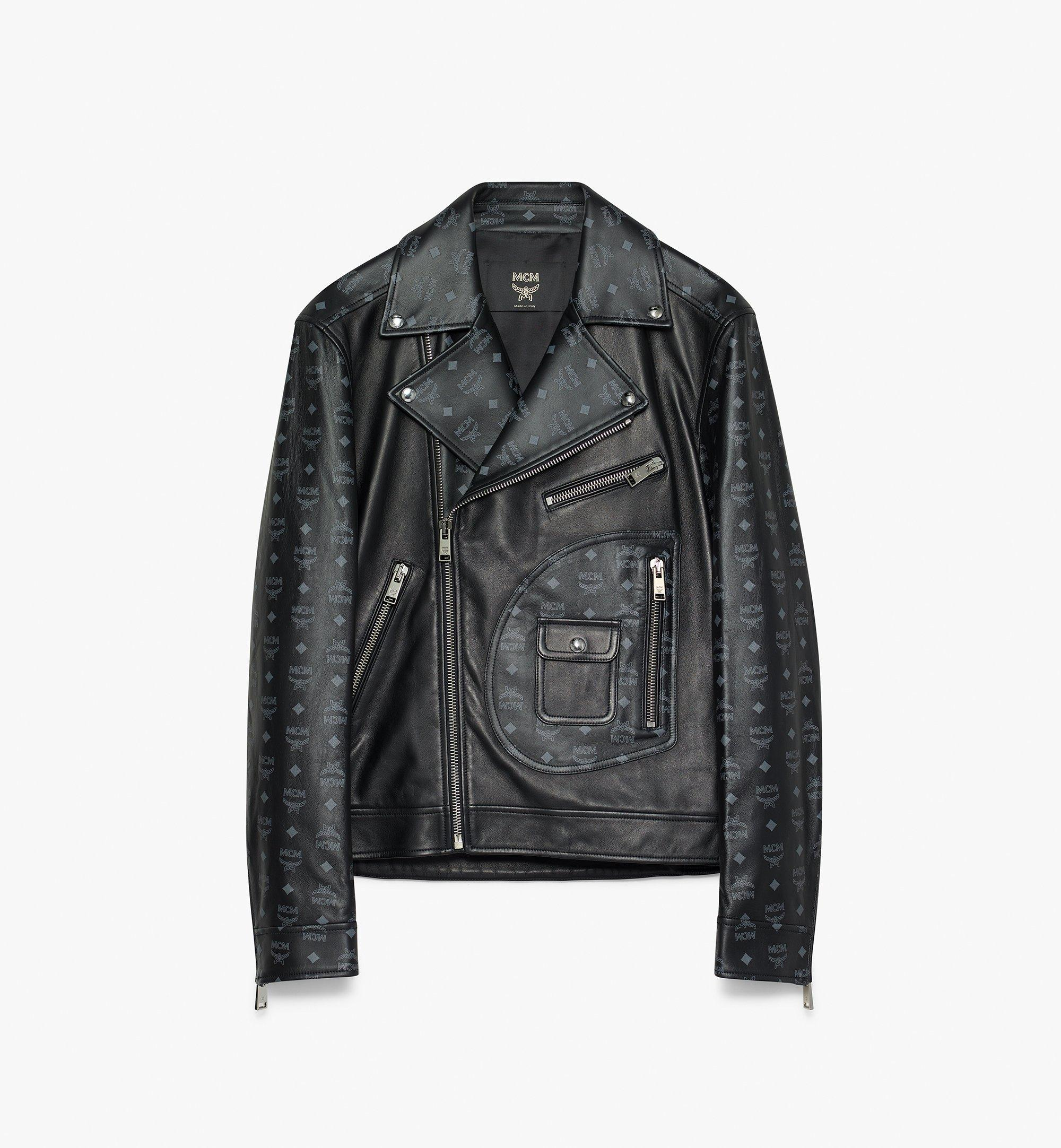 MCM Herren-Bikerjacke in Visetos  MHJ9AMM01BK046 Alternate View 1