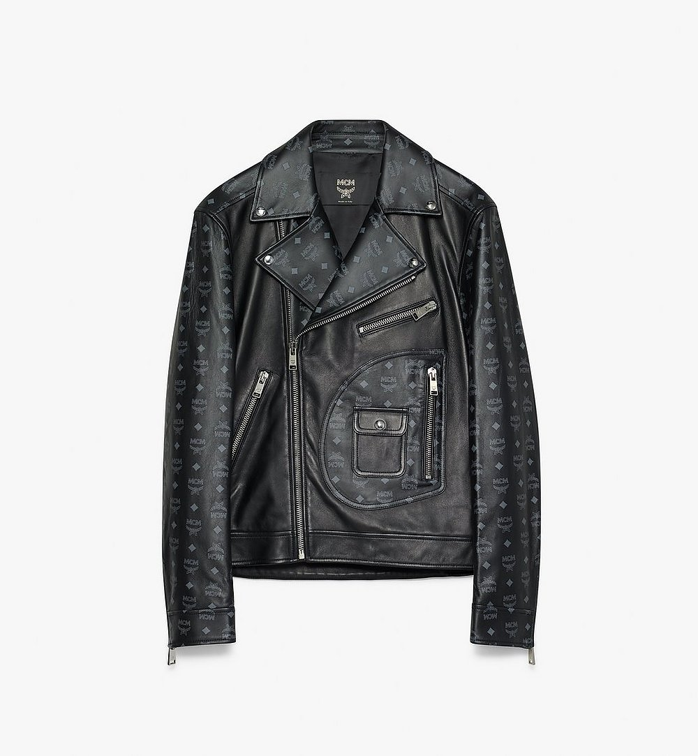 MCM Men's Rider Jacket in Visetos Black MHJ9AMM01BK050 Alternate View 1