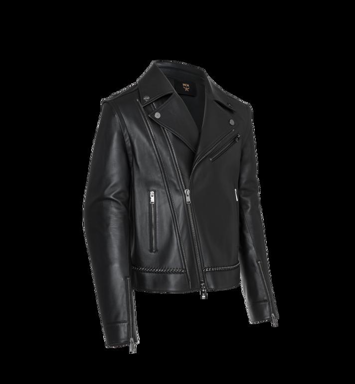 MCM Men's Chain Detail Leather Rider Jacket Alternate View 2