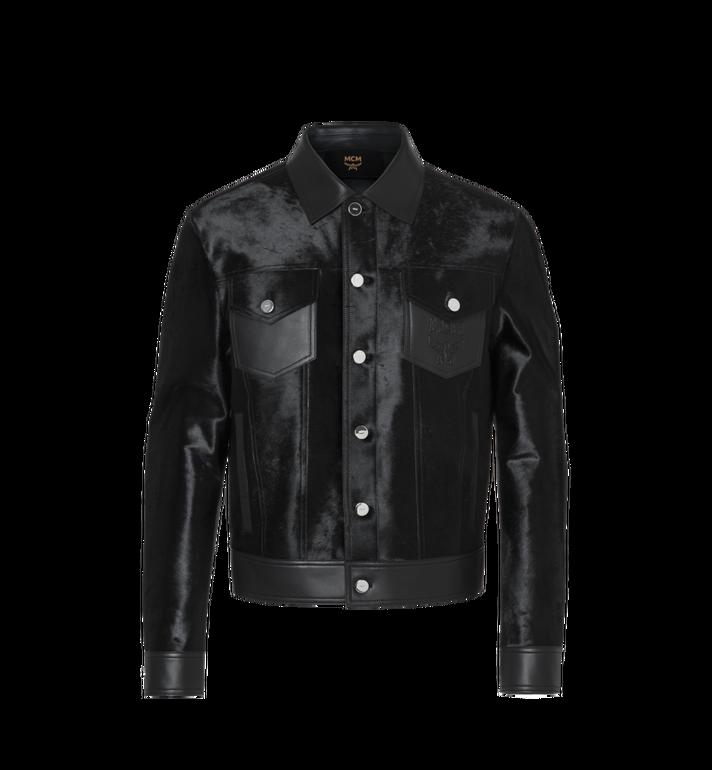 MCM Men's Haircalf Leather Trucker Jacket MHJ9SMM07BK00L AlternateView