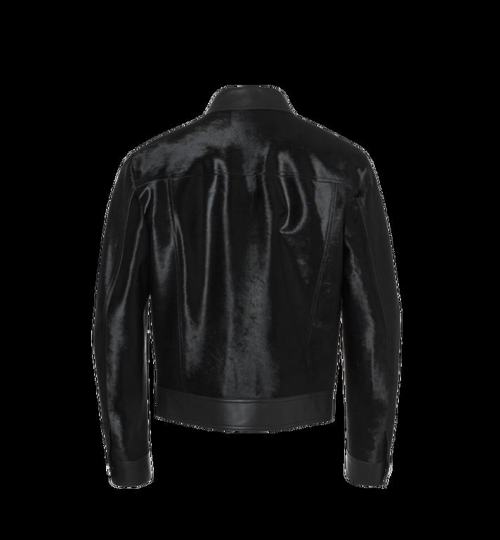 MCM Men's Haircalf Leather Trucker Jacket Alternate View 3