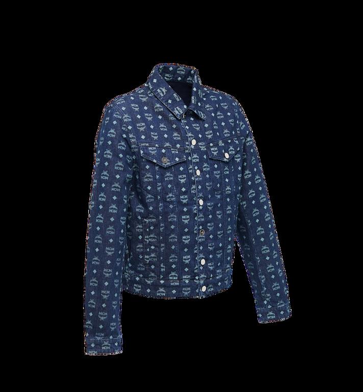 MCM Men's Denim Jacket in Visetos Blue MHJ9SMM70HD048 Alternate View 2