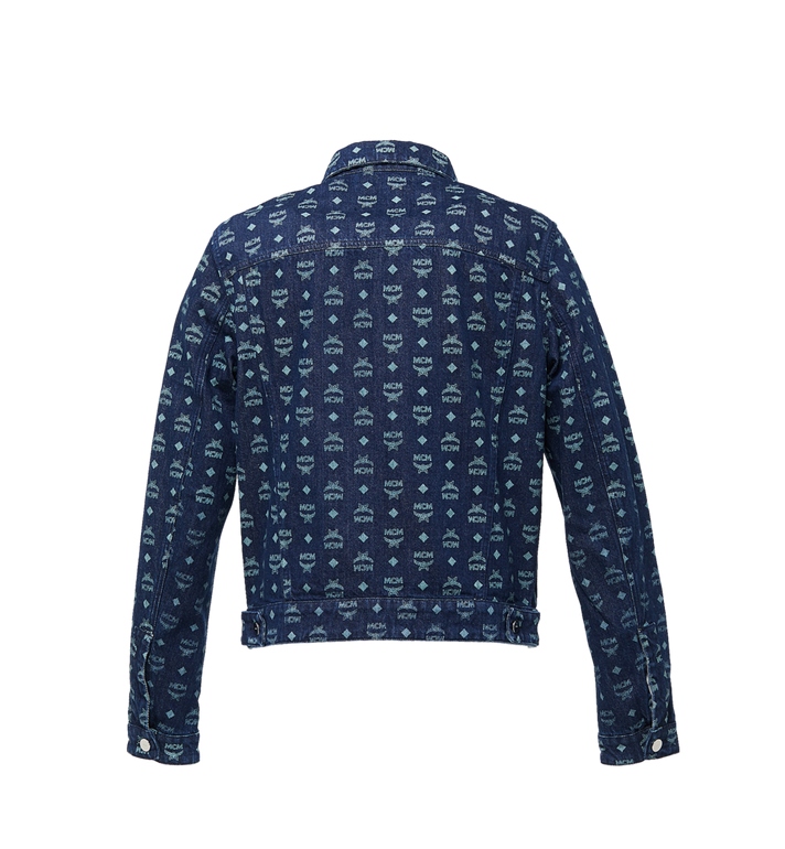 MCM Men's Denim Jacket in Visetos Blue MHJ9SMM70HD048 Alternate View 3