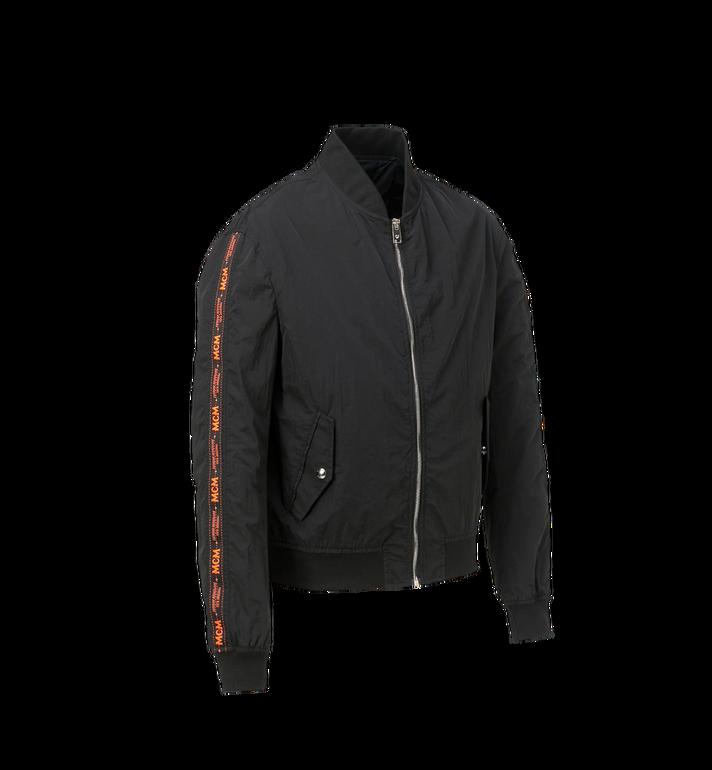 MCM Men's MCM Taping Track Jacket in Nylon Black MHJ9SMM81BK00L Alternate View 2