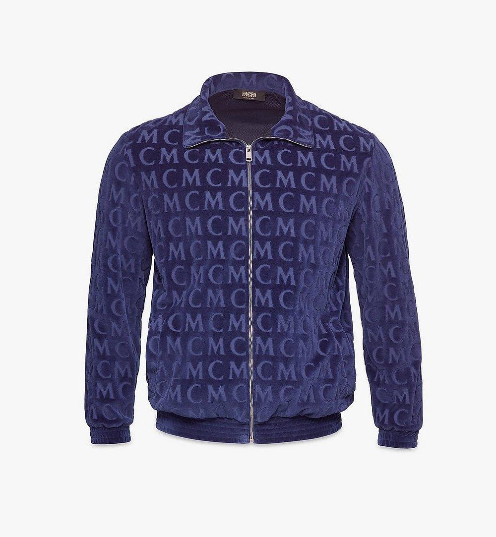 MCM Men's Monogram Velour Track Jacket Black MHJAAMD01VW00L Alternate View 1