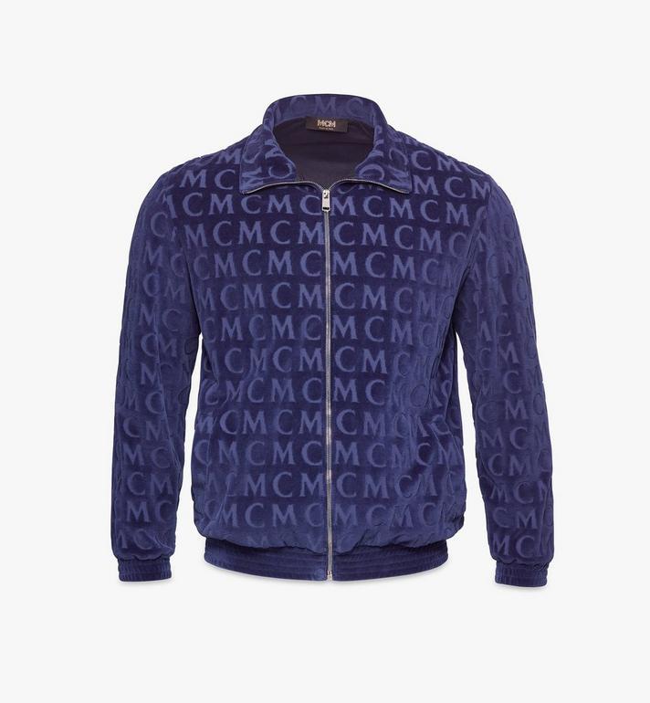 MCM Trainingsjacke aus Velours mit Monogramm für Herren Alternate View