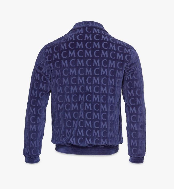 MCM Trainingsjacke aus Velours mit Monogramm für Herren Black MHJAAMD01VW00L Alternate View 2