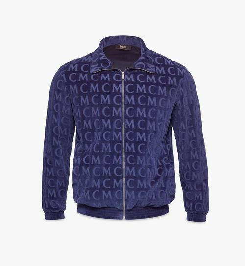 Trainingsjacke aus Velours mit Monogramm für Herren