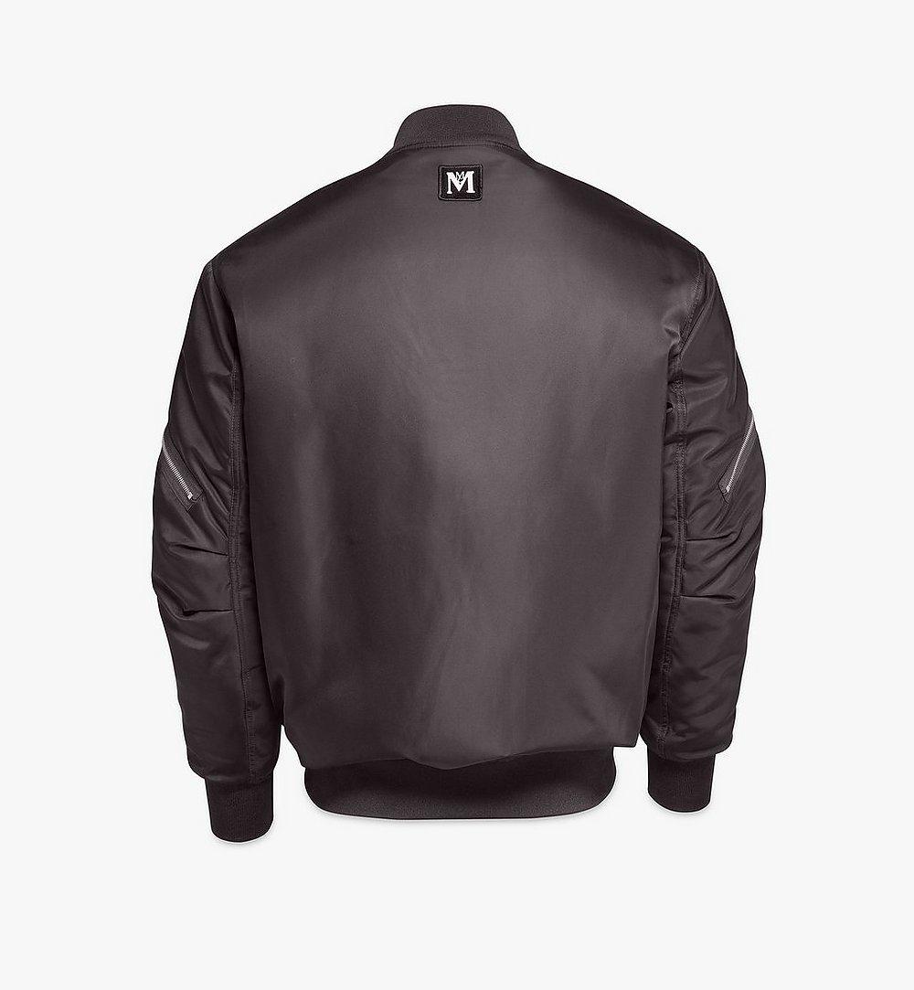 MCM Men's Bold Logo Bomber Jacket in Nylon Gabardine Black MHJAAMM07BK046 Alternate View 1
