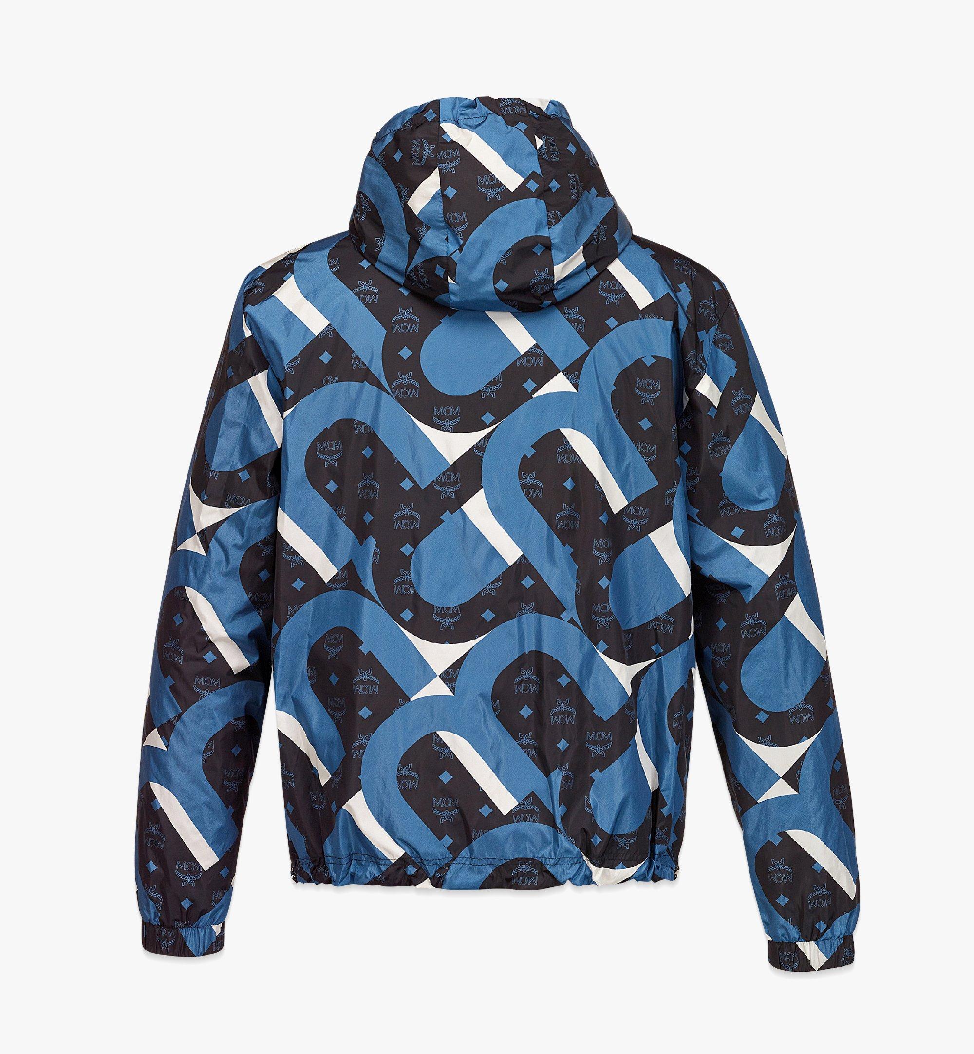 MCM Men's Wave Visetos Print Windbreaker with Belt Bag in ECONYL® Blue MHJBASX01H9050 Alternate View 1