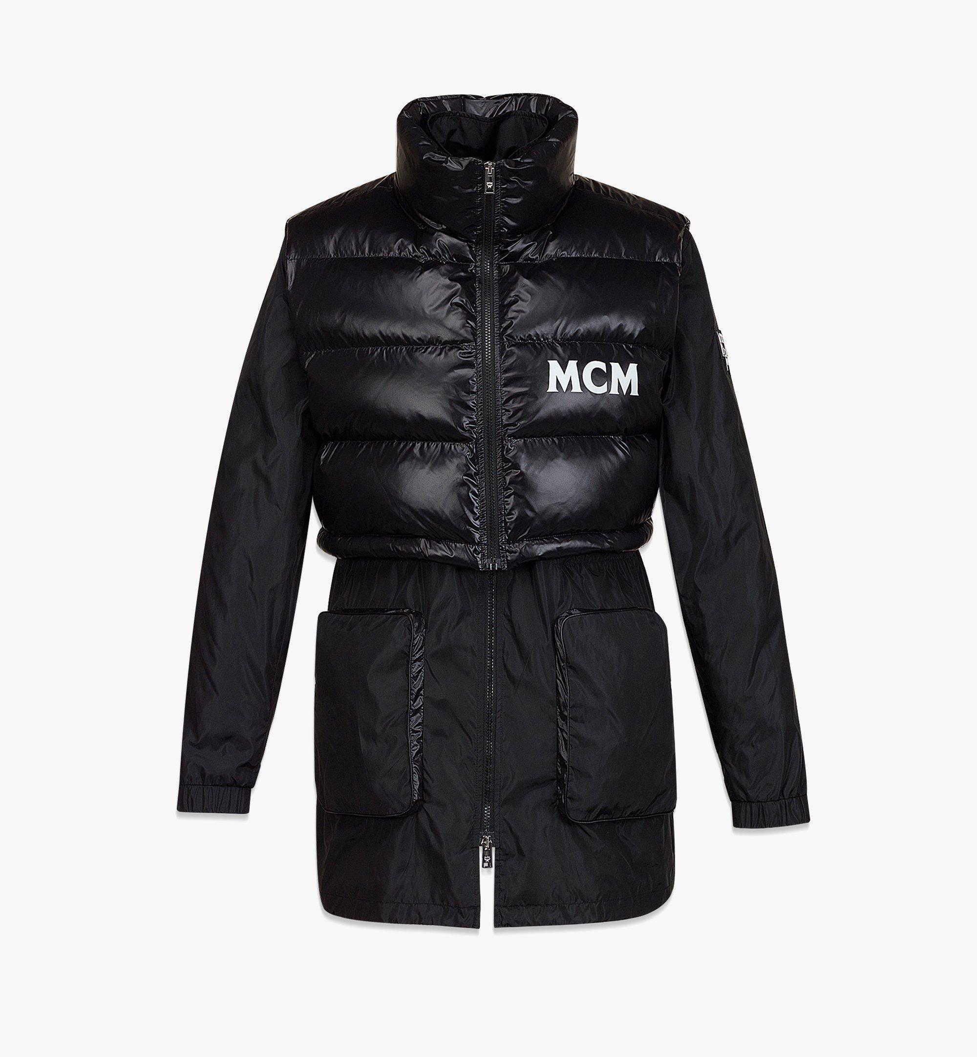 MCM Men's Logo Windbreaker and Vest in ECONYL® Black MHJBASX02BK046 Alternate View 1