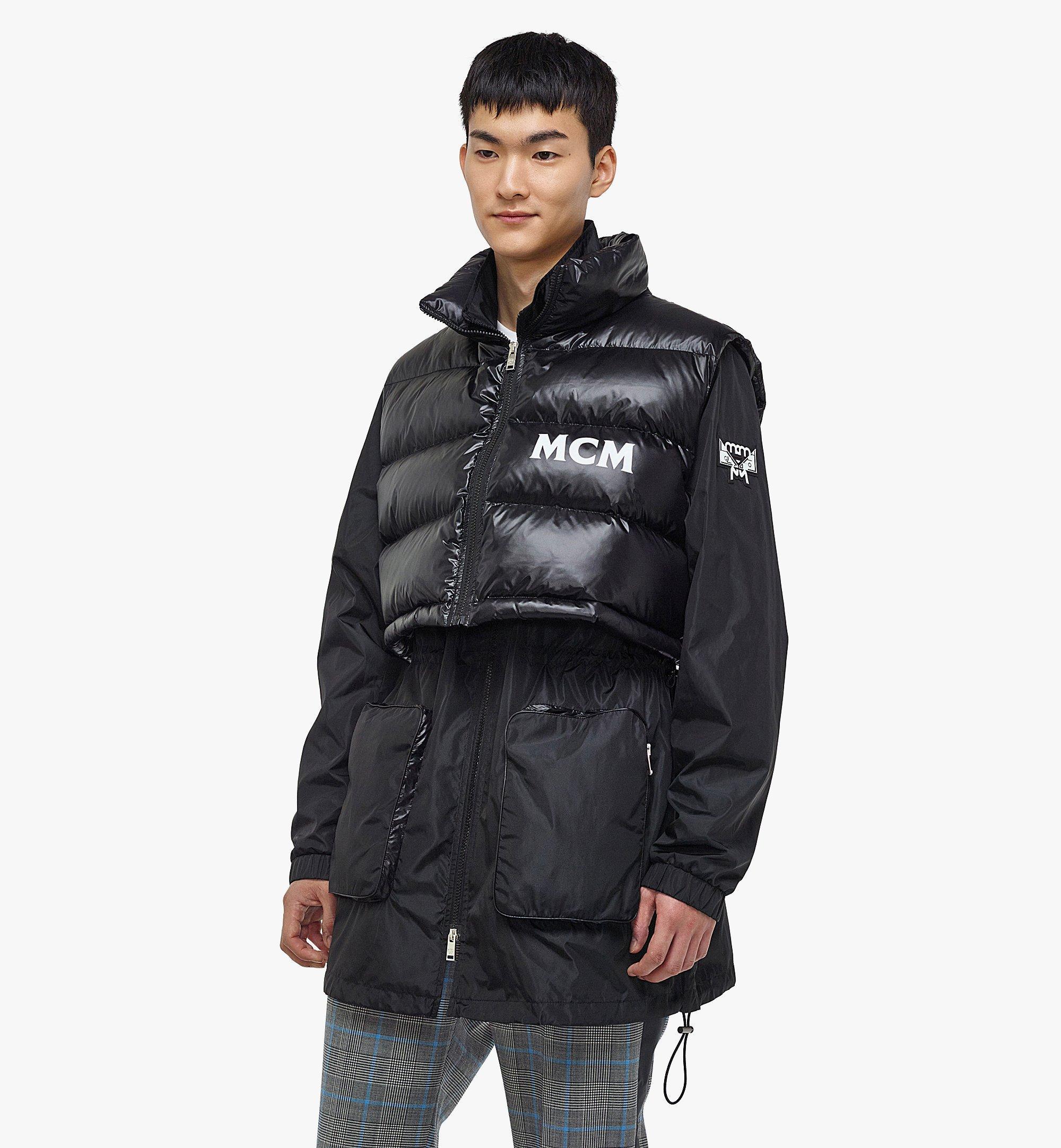 MCM Men's Logo Windbreaker and Vest in ECONYL® Black MHJBASX02BK046 Alternate View 2
