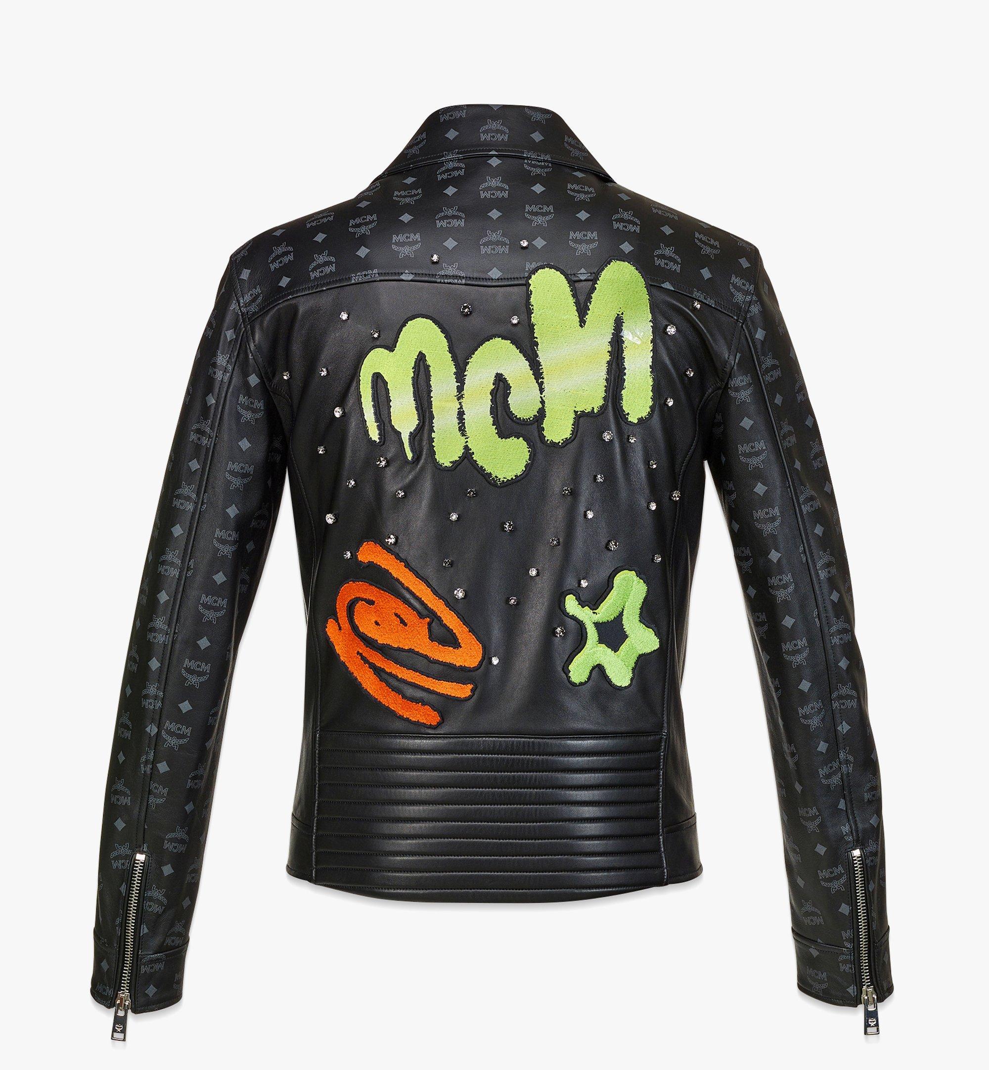 MCM 남성용 업사이클링 프로젝트 모노그램 레더 재킷 Black MHJBAUP01BK048 다른 각도 보기 1