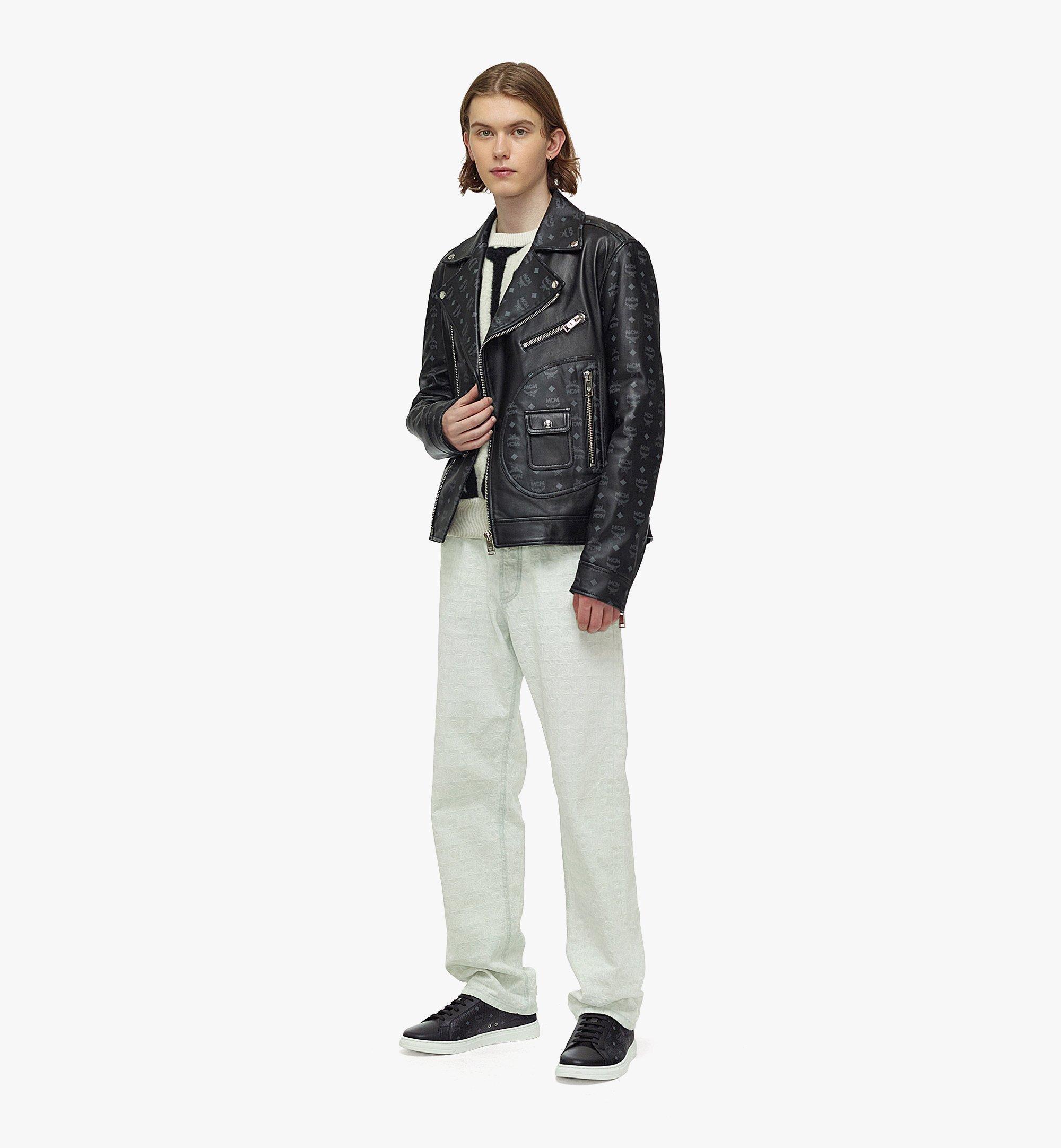MCM 남성용 업사이클링 프로젝트 모노그램 레더 재킷 Black MHJBAUP01BK048 다른 각도 보기 3
