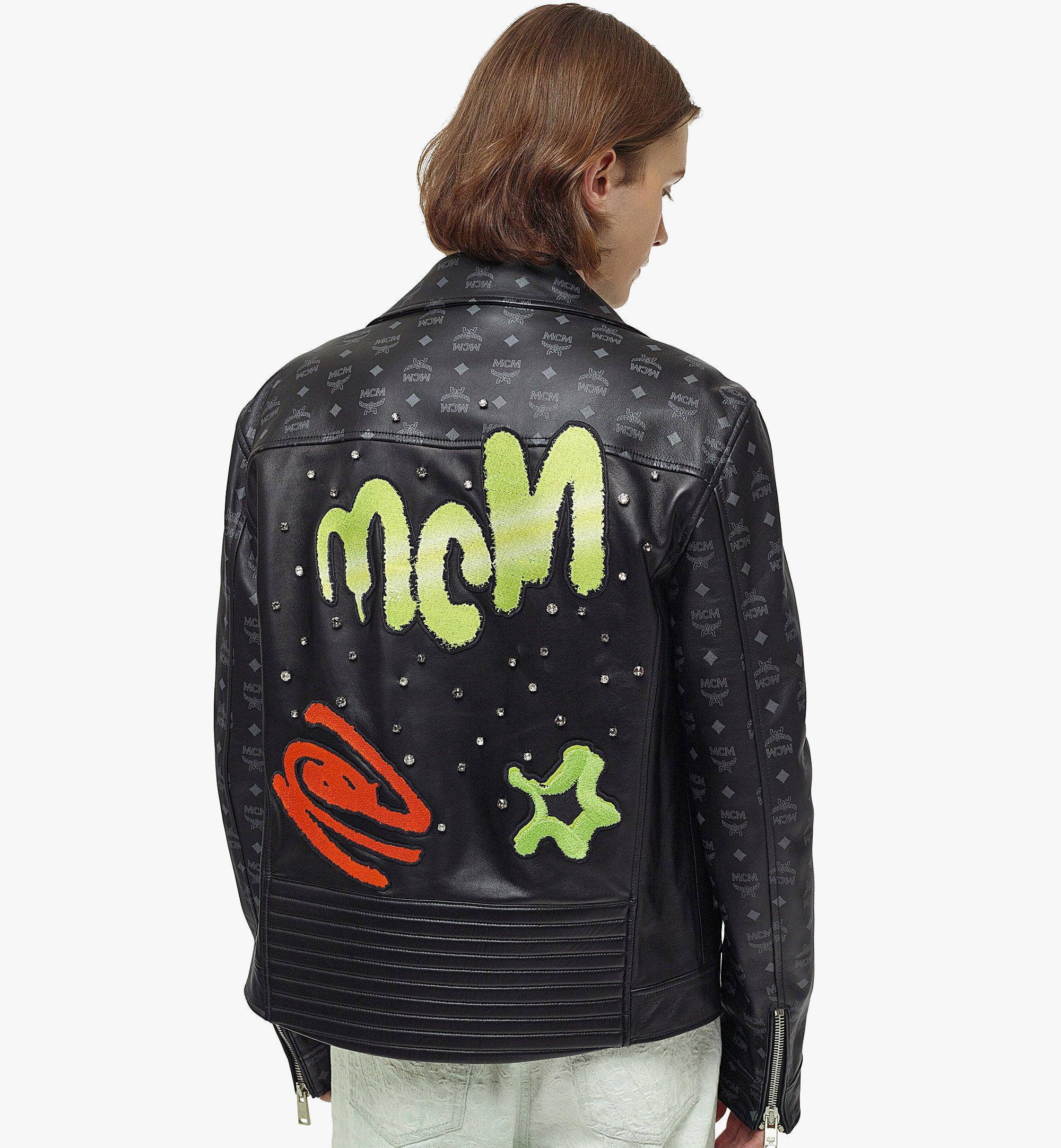 MCM 남성용 업사이클링 프로젝트 모노그램 레더 재킷 Black MHJBAUP01BK048 다른 각도 보기 2