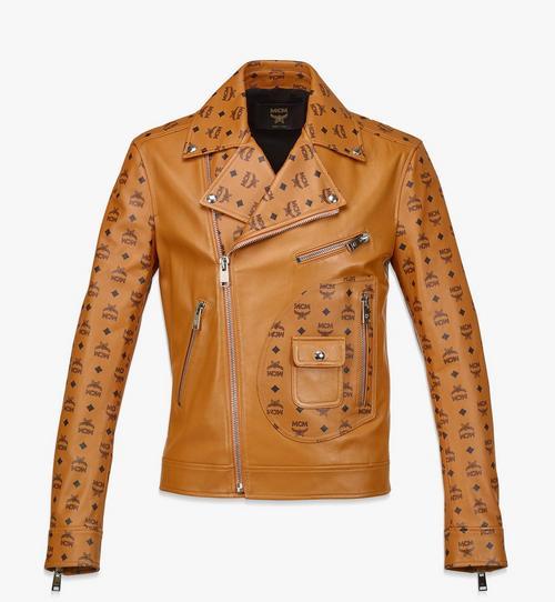 남성용 업사이클링 프로젝트 모노그램 레더 재킷