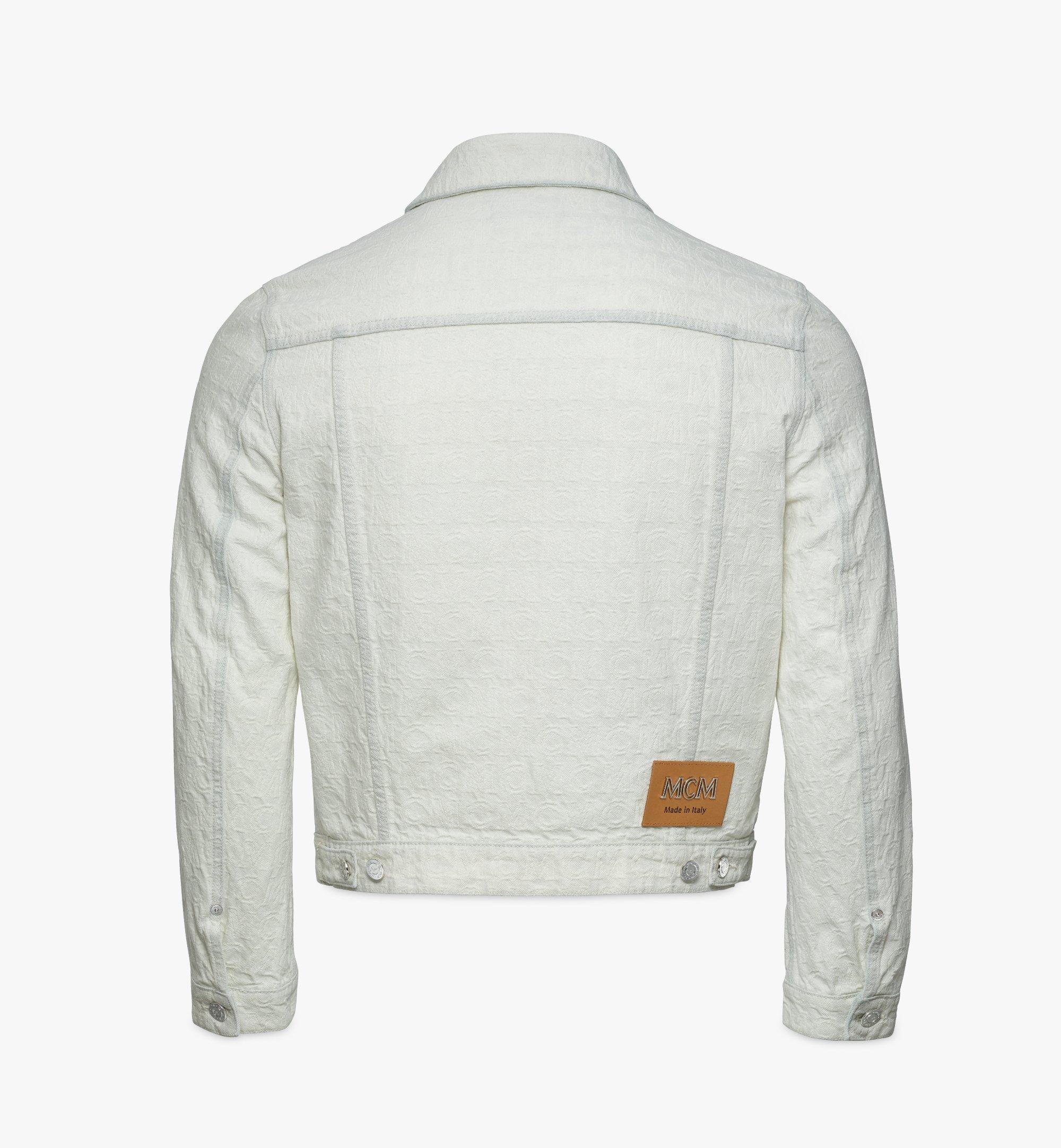 MCM Monogram Denim Jacket White MHJBSDS01WO050 Alternate View 1