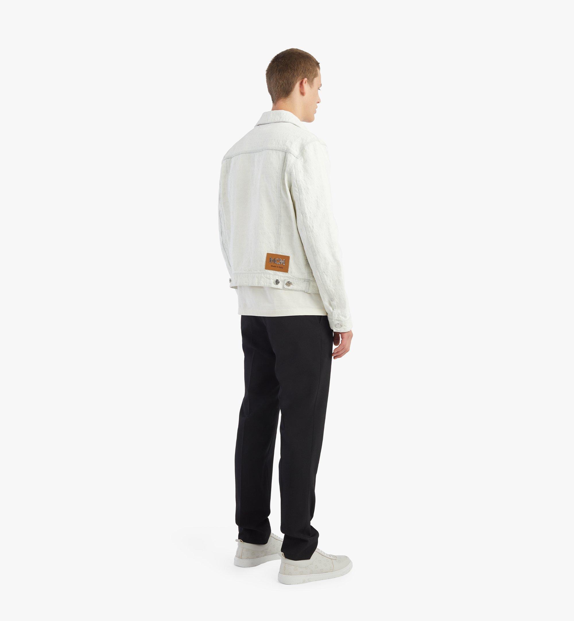 MCM Monogram Denim Jacket White MHJBSDS01WO050 Alternate View 2