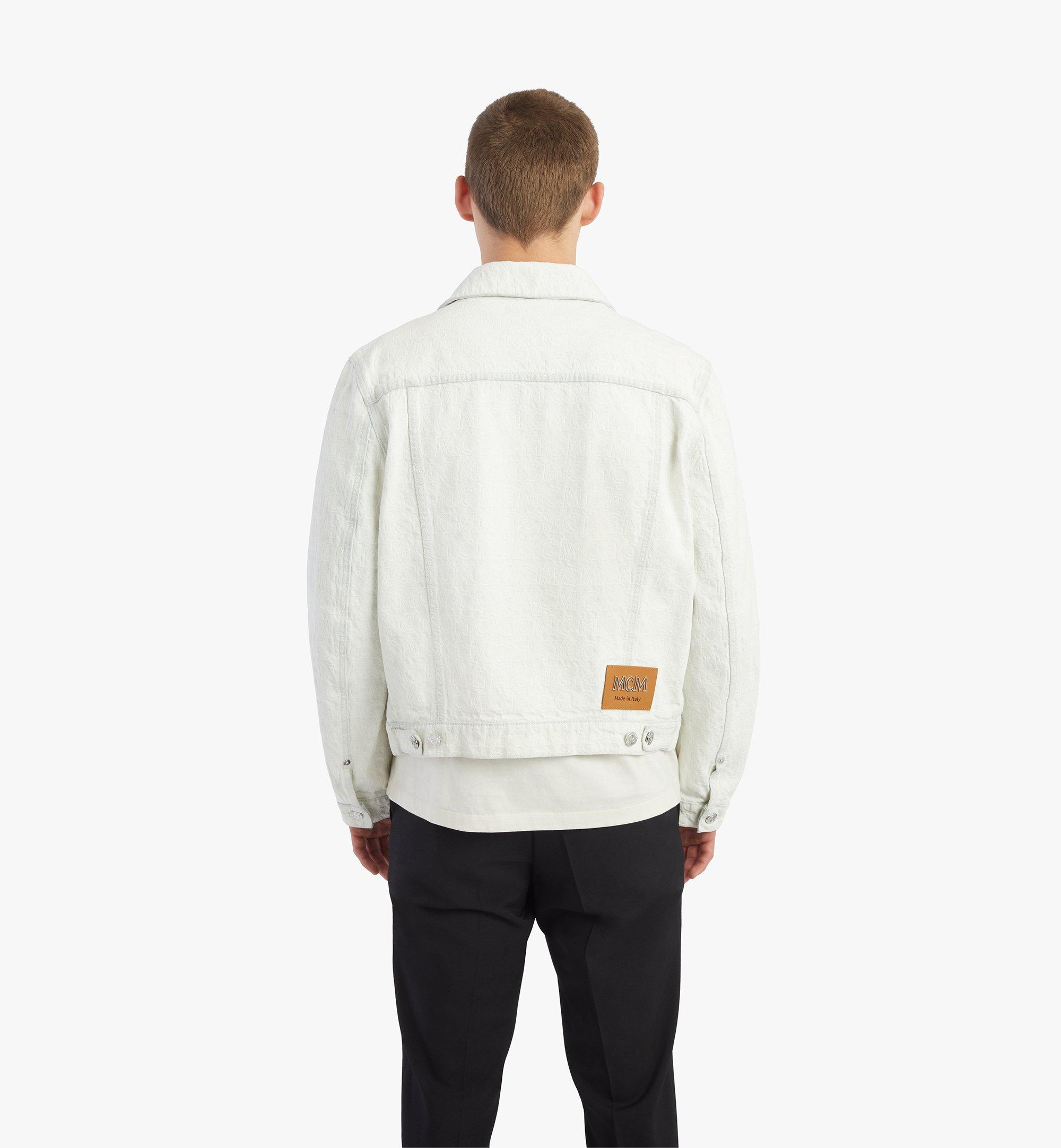 MCM Monogram Denim Jacket White MHJBSDS01WO050 Alternate View 3